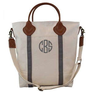 Monogrammed Flight Travel Bag - Grey