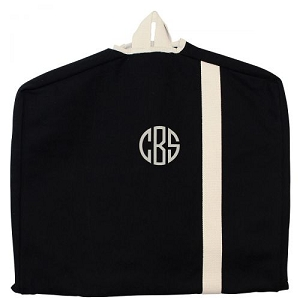 Monogrammed Garment Bag - Black