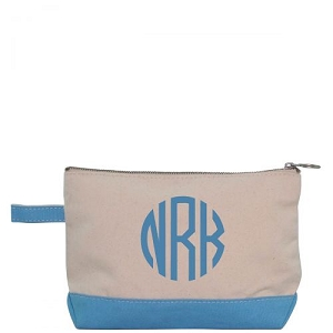 Canvas Cosmetic Bag - Baby Blue