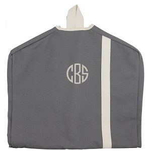 Monogrammed Garment Bag - Grey