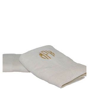 Luxury Cotton Bath Towels (Set of 2) Ivory