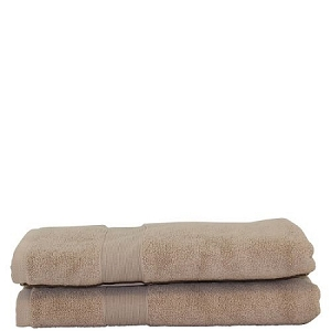 Luxury Cotton Bath Towels (Set of 2) Taupe