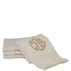 Luxury Cotton Face Towels (Set of 4) Ivory