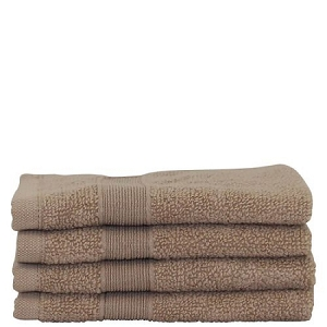 Luxury Cotton Face Towels (Set of 4) Taupe
