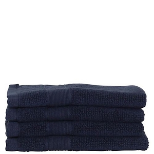 Luxury Cotton Face Towels (Set of 4) Navy