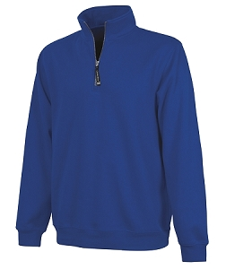 Monogrammed Crosswinds Pullover Sweatshirt in Royal
