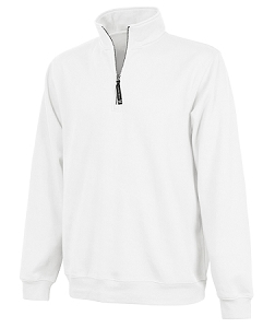 Monogrammed Crosswinds Pullover Sweatshirt in White