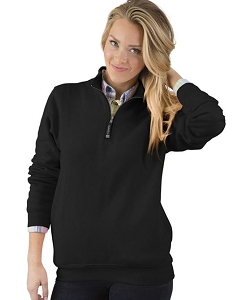 Monogrammed Crosswinds Pullover Sweatshirt in Black