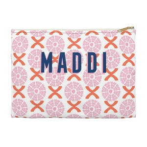 Monogrammed Clutch - Camille Pink (Large)