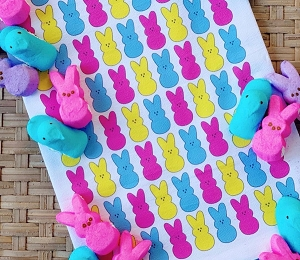 Monogrammed Flour Sack Kitchen Towel - Peeps