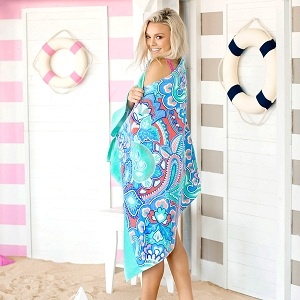 Monogrammed Beach Towel - Island Bliss