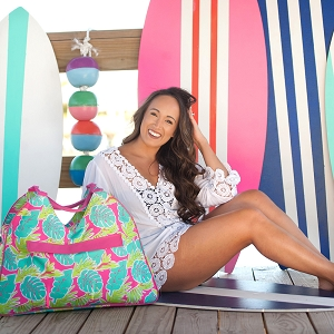 Monogrammed Beach Bag - Totally Tropics