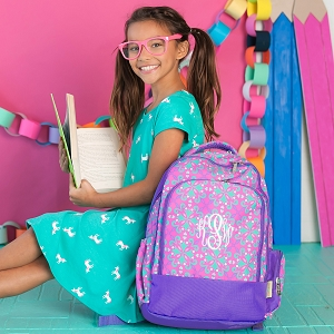 Monogrammed Backpack - Lila