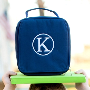 Monogrammed Lunch Box - Navy
