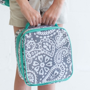 Monogrammed Lunch Box - Parker Paisley