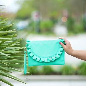 Monogrammed Chloe Purse - Mint