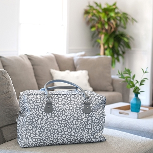 Monogrammed Travel Bag - Smokey Leopard