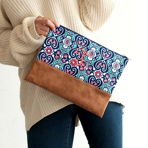 Monogrammed Zipper Pouch, Blakely