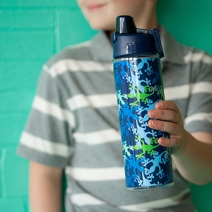 Monogrammed Water Bottle - Gecko