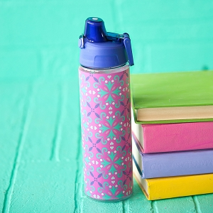 Monogrammed Water Bottle - Lila
