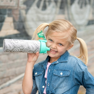 Monogrammed Water Bottle - Parker Paisley