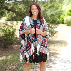 Kennedy Shawl - Classic Plaid
