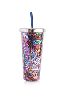 Monogrammed 24oz Streamer Tumbler with Straw