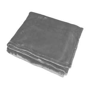 Monogrammed Fleece Flannel Blanket - Gray