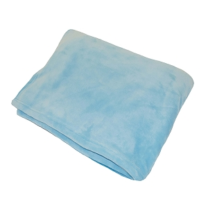 Monogrammed Fleece Flannel Blanket - Aqua