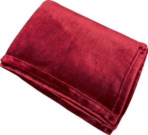 Monogrammed Fleece Flannel Blanket - Garnet