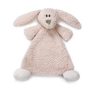 Monogrammed Bunny Rattle Blankie