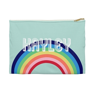 Monogrammed Clutch - Rainbow (Large)