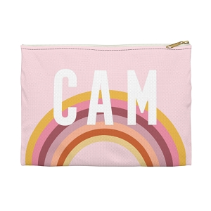 Monogrammed Clutch - Rainbow Pink (Small)