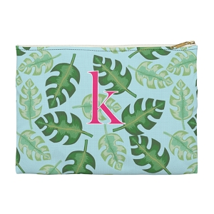 Monogrammed Clutch - Tropical Blue (Large)
