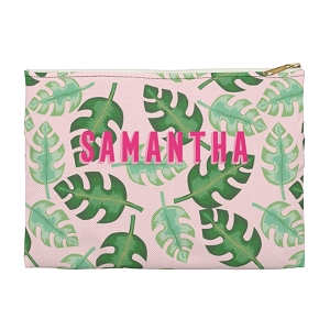 Monogrammed Clutch - Tropical Pink (Small)