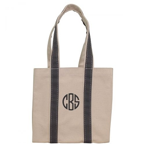Monogrammed Four Bottle Wine Tote - Gray