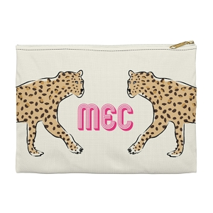 Monogrammed Clutch - Leopard Duo (Small)