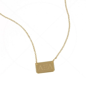 Monogrammed Rectangle Necklace
