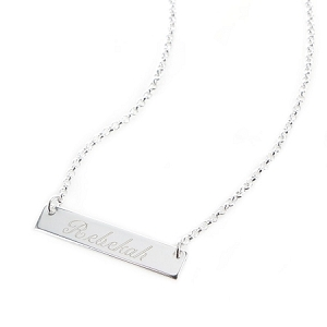 Personalized Bar Necklace and Pendant