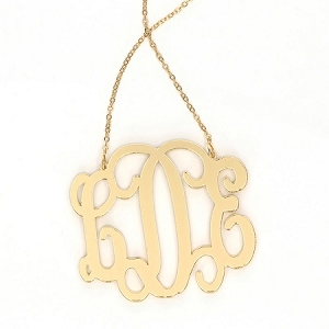 Acrylic Monogram Necklace - XL Interlocking