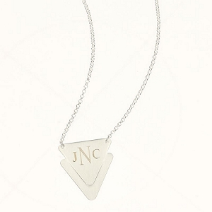 Monogrammed Triangle Necklace