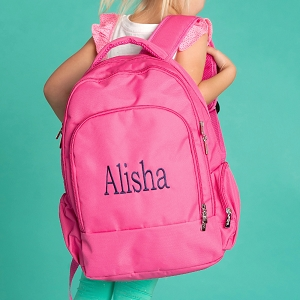 Monogrammed Backpack - Hot Pink