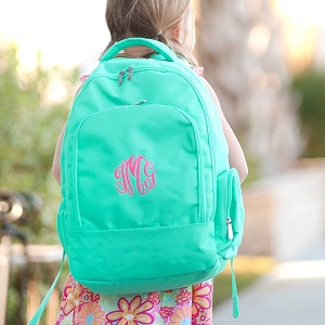 Monogrammed Backpack - Mint