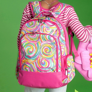 Monogrammed Backpack - Summer Sorbet