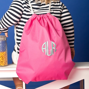 Monogrammed Gym Bag - Hot Pink