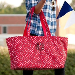 Monogrammed Ultimate Tote - Red