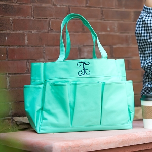 Monogrammed Carry All Bag - Mint