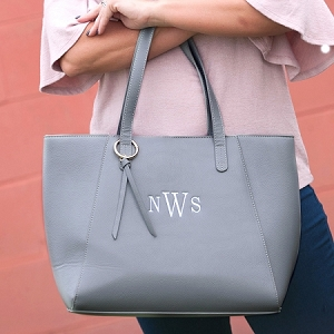 Monogrammed Camilla Purse - Gray