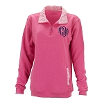 Monogrammed Pullover Pink/White Gingham