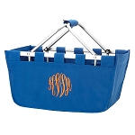 Monogrammed Market Basket, Royal Blue